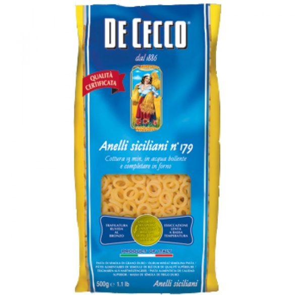 De Cecco anelli szicíliai gyűrű tészta
