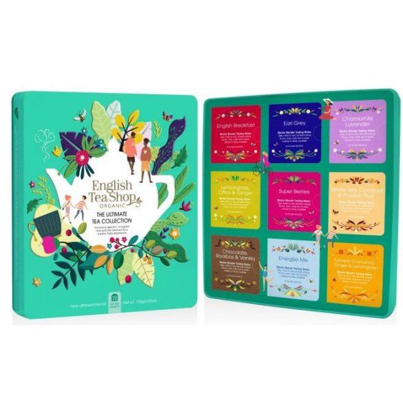 English Tea Shop 72 db-os teaválogatás türkiz fémdobozban