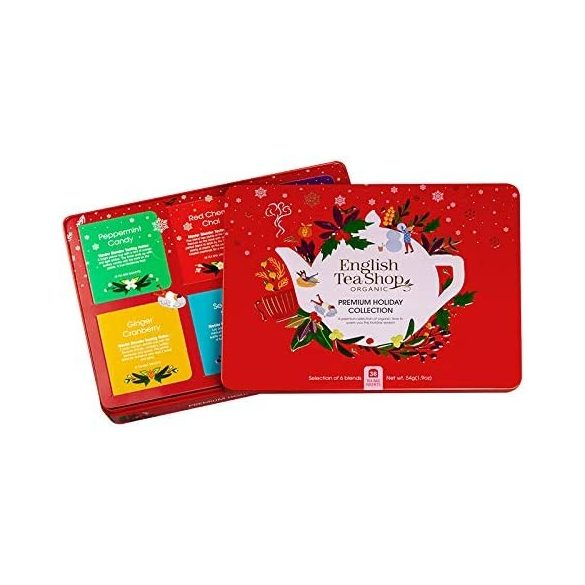 English Tea Shop 36 db-os ünnepi teaválogatás piros fémdobozban