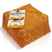 Balocco narancsos panettone étcsokoládé darabokkal  díszcsomagolásban