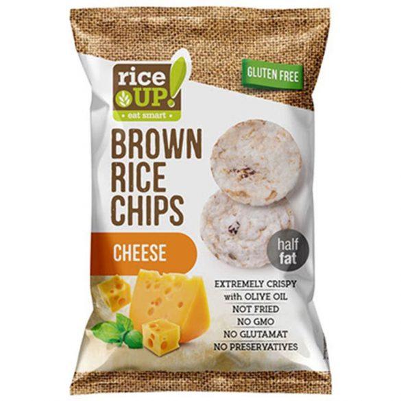 Rice up teljes kiőrlésű barna rizs chips sajtos