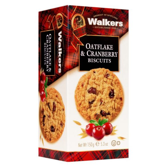Walker's skót zabpehely tartalmú keksz tőzegáfonyával