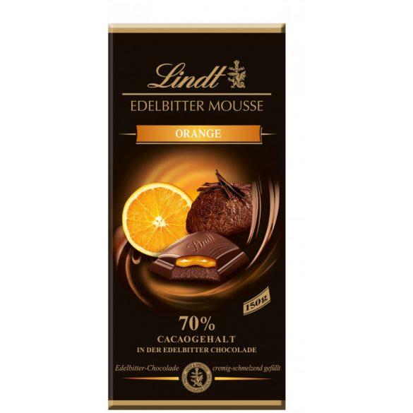 Lindt Edelbitter Mousse narancsos étcsokoládé