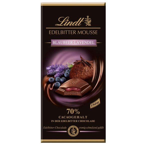 Lindt Edelbitter Mousse áfonyás levendulás étcsokoládé