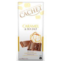 Cachet tejcsokoládé karamell darabokkal és tengeri sóval