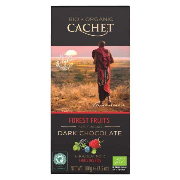 Cachet bio étcsokoládé erdei gyümölccsel