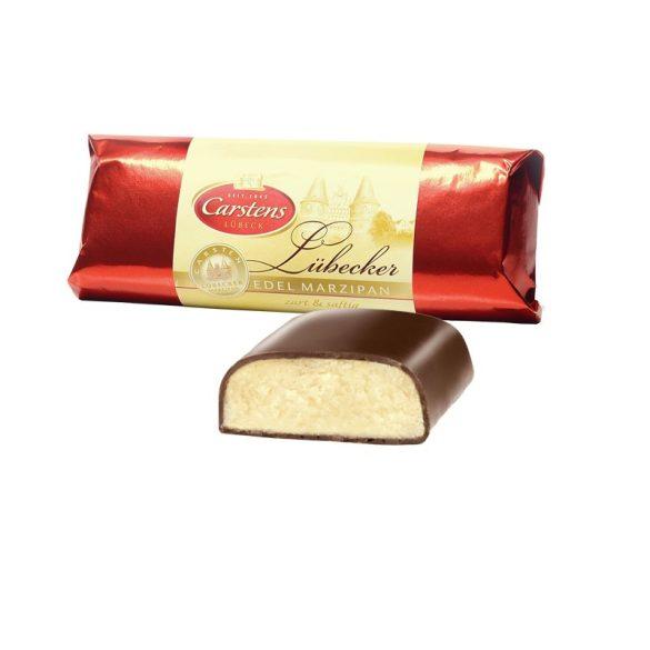 Carstens Lübeck-i marzipánrúd csokoládéba mártva