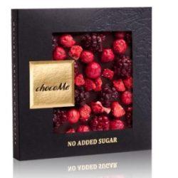chocoMe piros bogyós gyümölcsös cukormentes étcsokoládé