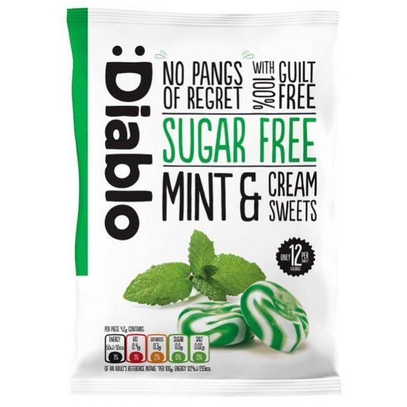 Diablo cukormentes mentás tejszínes cukorka