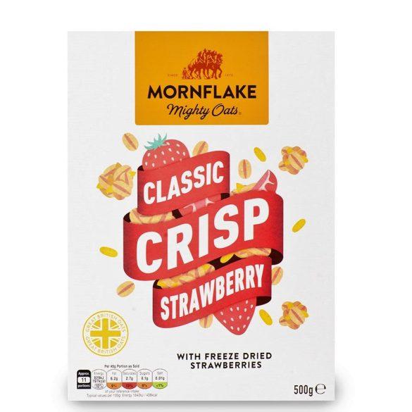 Mornflake pörkölt zab és rizspehely eperdarabokkal