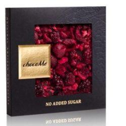 chocoMe piros gyümölcsös cukormentes étcsokoládé
