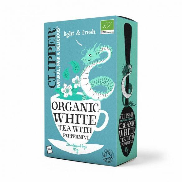 Clipper bio fehér tea mentával