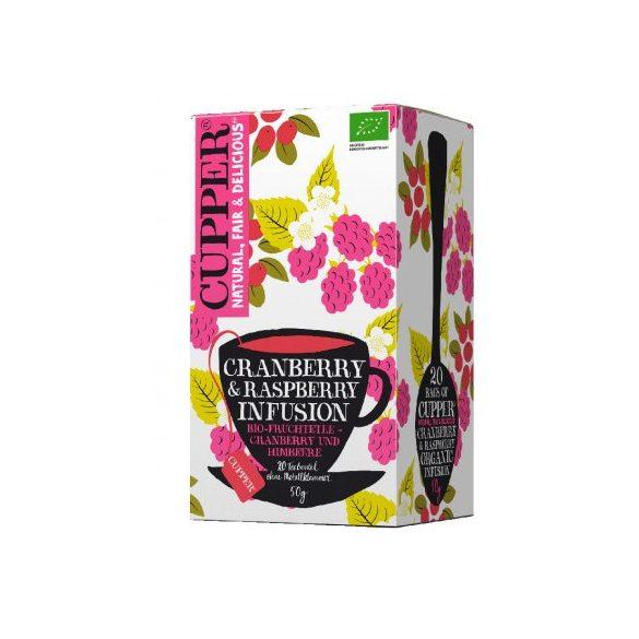 Clipper(Cupper) vörösáfonya&málna tea 20 filter