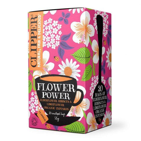 Clipper Flower Power bodzás gyümölcstea