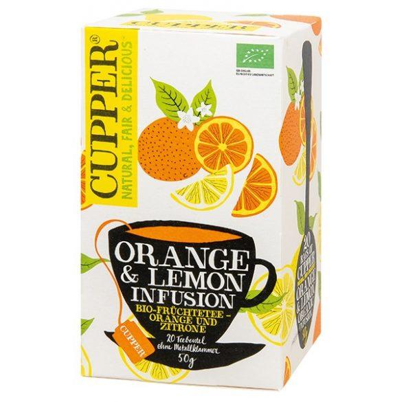 Cupper narancs,citrom tea