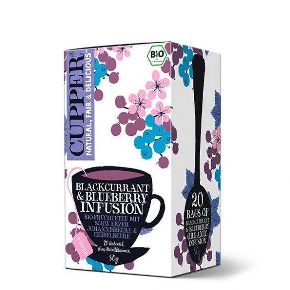 Cupper feketeribizli & kékáfonya bio tea