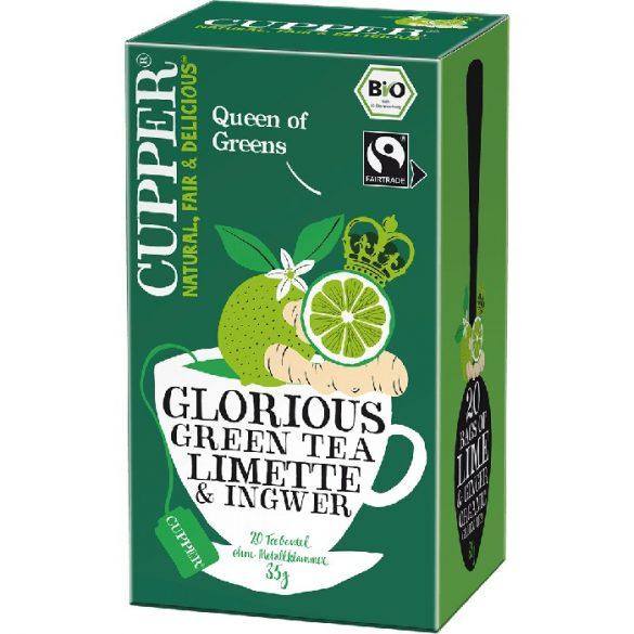 Cupper bio zöld tea citrommal és gyömbérrel