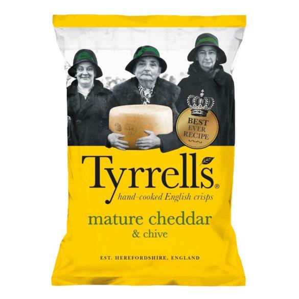 Tyrrells cheddar sajtos metélő hagymás burgonyachips