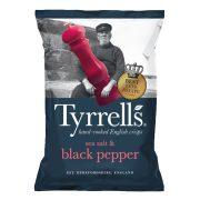 Tyrrells burgonyachips fekete borssal és tengeri sóval