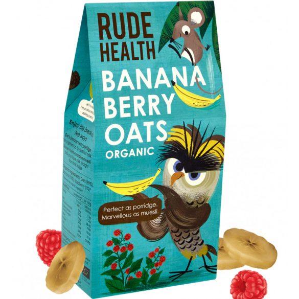 Rude Health bio banános, málnás zabkása