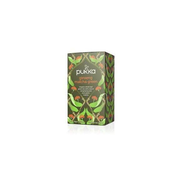Pukka bio Matcha zöld tea ginzenggel