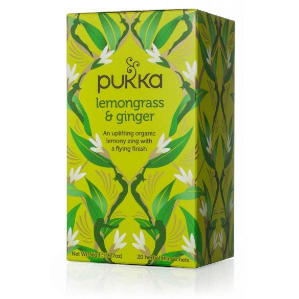 Pukka bio citromfű tea gyömbérrel