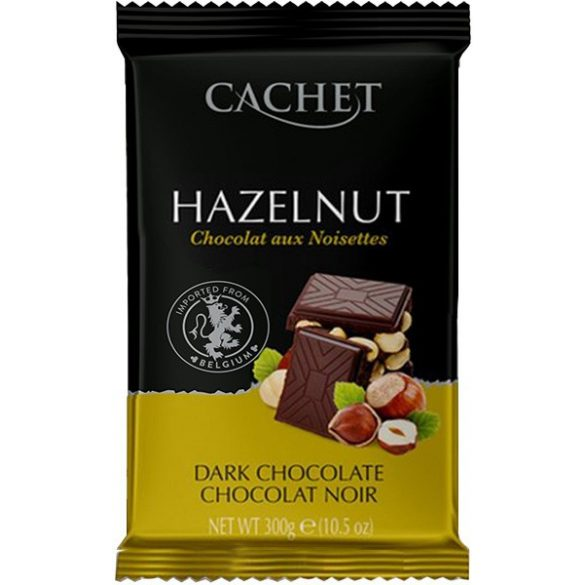 Cachet étcsokoládé mogyorószemekkel 300g