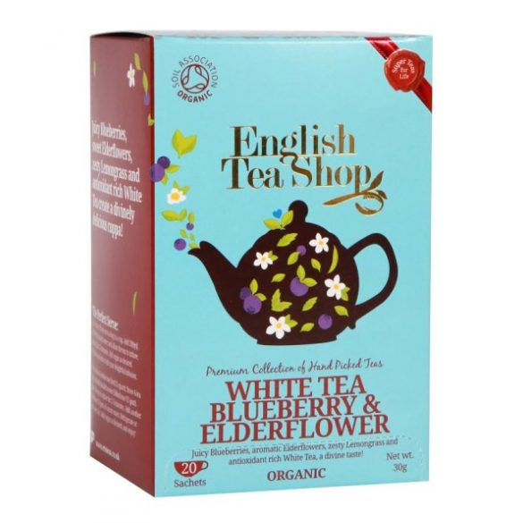 English Tea Shop bio áfonyás, bodzás fehér tea