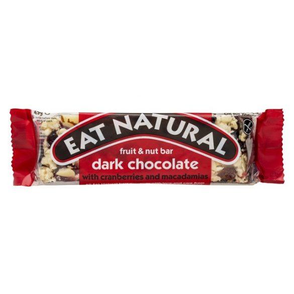 Eat Natural gluténmentes müzliszelet - áfonya, makadámia étcsokoládéban