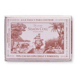 Simón Coll chilis étcsokoládé tömb