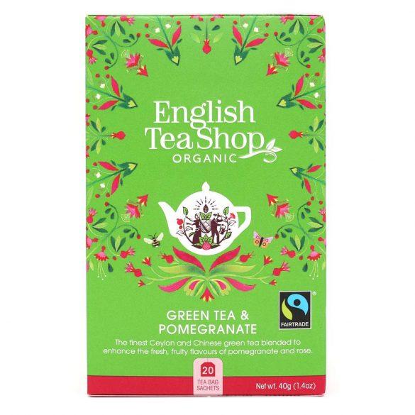 English Tea Shop bio zöld tea gránátalmával