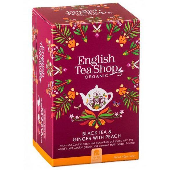 English Tea Shop bio gyömbér tea barackkal