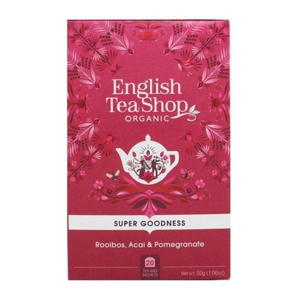 English Tea Shop bio rooibos tea akai bogyóval és gránátalmával