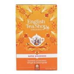 English Tea Shop gyömbér citromfű bio tea kurkumával