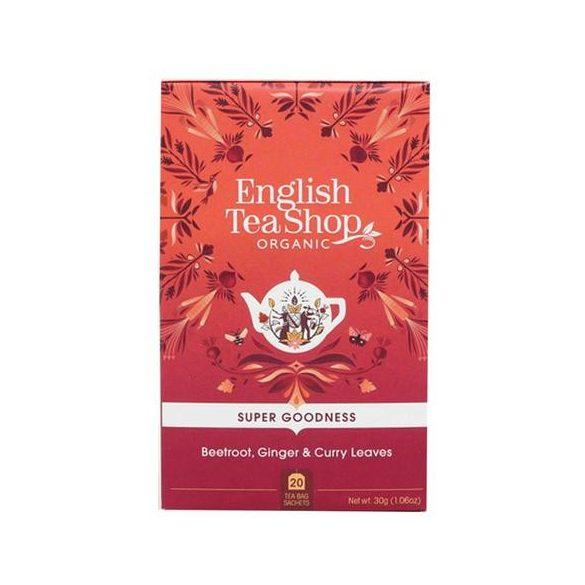 English Tea Shop cékla, gyömbér, curry  bio tea