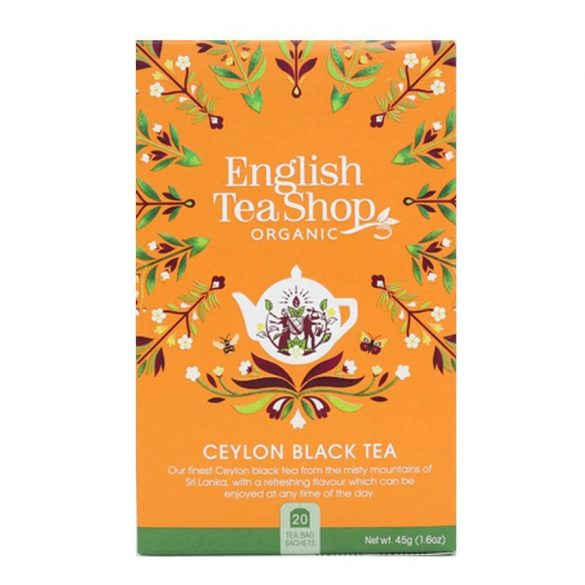 English Tea Shop bio Ceylon fekete tea