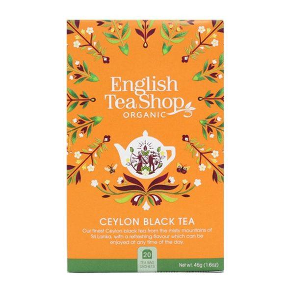 English Tea Shop bio Ceylon fekete tea