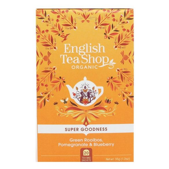 English Tea Shop bio zöld rooibos tea gránátalmával