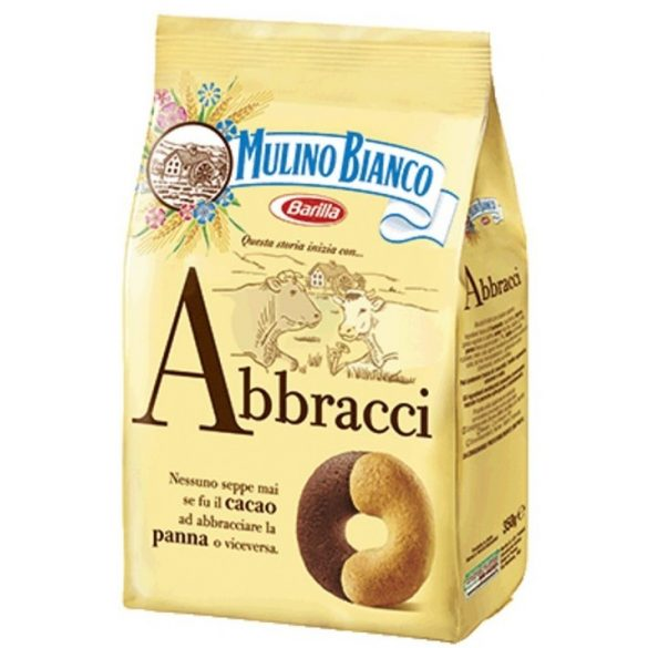 Mulino Bianco Abbracci tejszínes kakaós édes omlós keksz