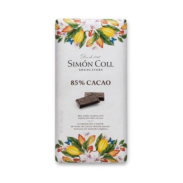 Simón Coll 85%-os étcsokoládé tábla