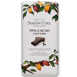 Simón Coll étcsokoládé kakaóbabbal