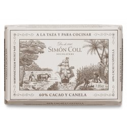 Simón Coll fahéjas étcsokoládé tömb