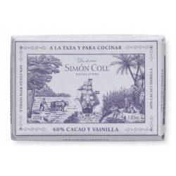 Simón Coll vaníliás étcsokoládés tömb
