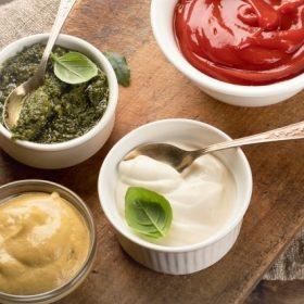 Mustár, ketchup, majonéz,torma